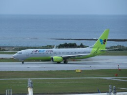 TradelView FUKUROさんが、那覇空港で撮影したジンエアー 737-8Q8の航空フォト(飛行機 写真・画像)