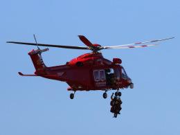 丸めがねさんが、ホンダエアポートで撮影した埼玉県防災航空隊 AW139の航空フォト(飛行機 写真・画像)