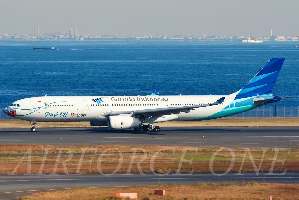 AIRFORCE ONEさんのガルーダ・インドネシア航空 Airbus A330-300 (PK-GHC) 航空フォト