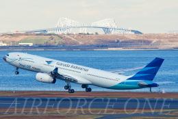 AIRFORCE ONEさんが、羽田空港で撮影したガルーダ・インドネシア航空 A330-343Xの航空フォト(飛行機 写真・画像)