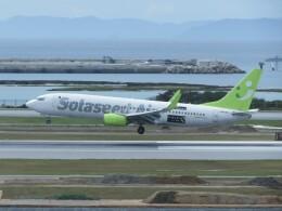 TradelView FUKUROさんが、那覇空港で撮影したソラシド エア 737-81Dの航空フォト(飛行機 写真・画像)