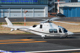 Chofu Spotter Ariaさんが、東京ヘリポートで撮影したノエビア AW109SP GrandNewの航空フォト(飛行機 写真・画像)