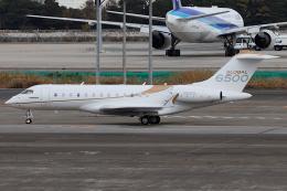 Hariboさんが、羽田空港で撮影したアメリカ企業所有 BD-700-1A10 Global 6000の航空フォト(飛行機 写真・画像)