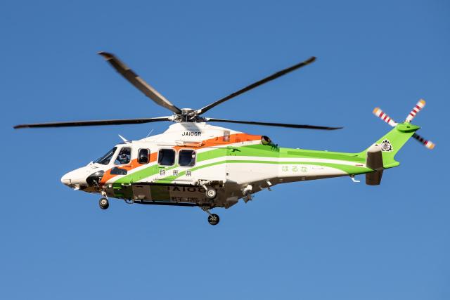 KANTO61さんが、朝日航洋川越メンテナンスセンターで撮影した三井物産エアロスペース AW139の航空フォト(飛行機 写真・画像)