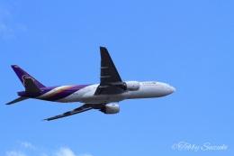 Tobby Suzukiさんが、新千歳空港で撮影したタイ国際航空 777-2D7の航空フォト(飛行機 写真・画像)