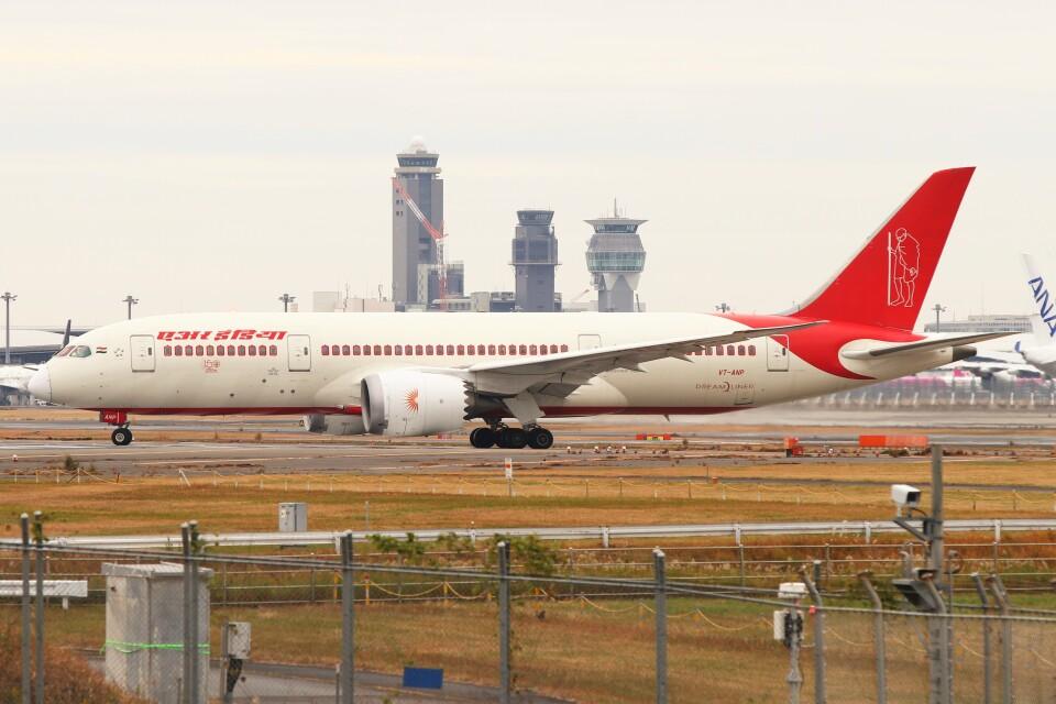 BTYUTAさんのエア・インディア Boeing 787-8 Dreamliner (VT-ANP) 航空フォト