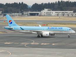 池さん@JA381Aさんが、成田国際空港で撮影した大韓航空 A220-300 (BD-500-1A11)の航空フォト(飛行機 写真・画像)