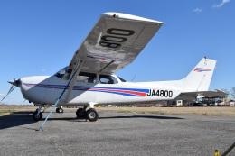 MOR1(新アカウント)さんが、大利根飛行場で撮影した日本モーターグライダークラブ 172R Skyhawkの航空フォト(飛行機 写真・画像)