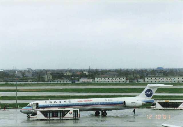 North1973さんが、上海浦東国際空港で撮影した中国北方航空 MD-82 (DC-9-82)の航空フォト(飛行機 写真・画像)