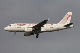フッ軽の極美さんが、フランクフルト国際空港で撮影したチュニスエア A319-112の航空フォト(飛行機 写真・画像)