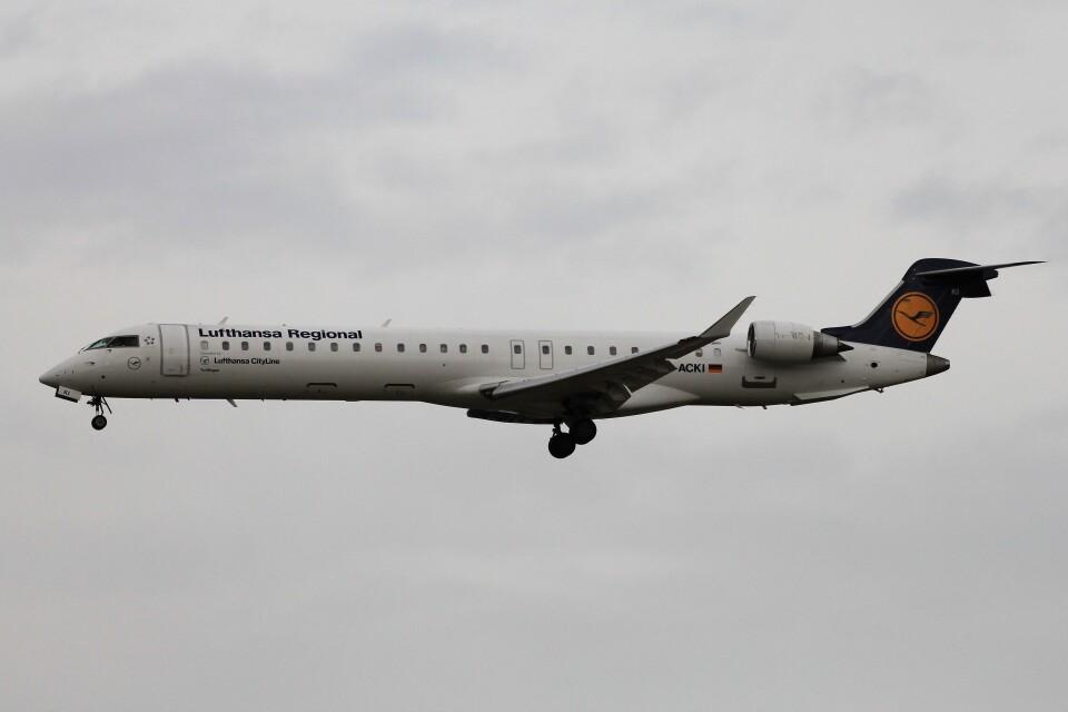 フッ軽の極美さんのルフトハンザ・シティライン Bombardier CRJ-900 (D-ACKI) 航空フォト