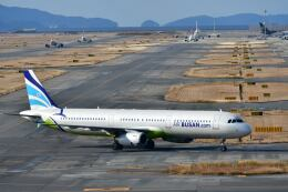 天心さんが、関西国際空港で撮影したエアプサン A321-231の航空フォト(飛行機 写真・画像)