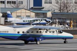 だびでさんが、調布飛行場で撮影した新中央航空 Do 228-212 NGの航空フォト(飛行機 写真・画像)