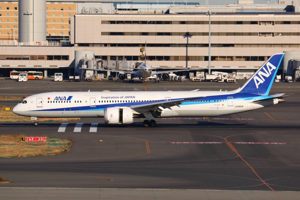 やつはしさんの全日空 Boeing 787-9 (JA880A) 航空フォト