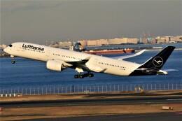 みるぽんたさんが、羽田空港で撮影したルフトハンザドイツ航空 A350-941の航空フォト(飛行機 写真・画像)