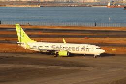 石鎚さんが、羽田空港で撮影したソラシド エア 737-86Nの航空フォト(飛行機 写真・画像)