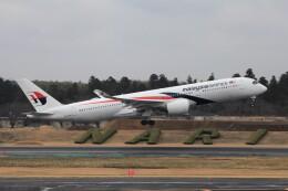 フッ軽の極美さんが、成田国際空港で撮影したマレーシア航空 A350-941の航空フォト(飛行機 写真・画像)