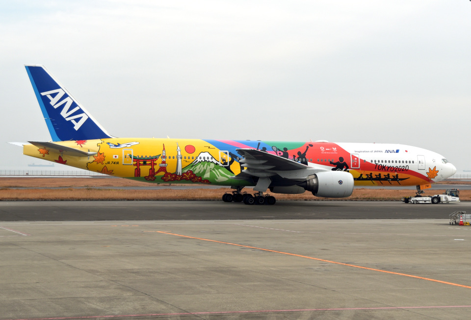 tsubasa0624さんの全日空 Boeing 777-200 (JA741A) 航空フォト