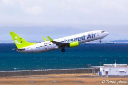 triton@blueさんが、中部国際空港で撮影したソラシド エア 737-81Dの航空フォト(飛行機 写真・画像)