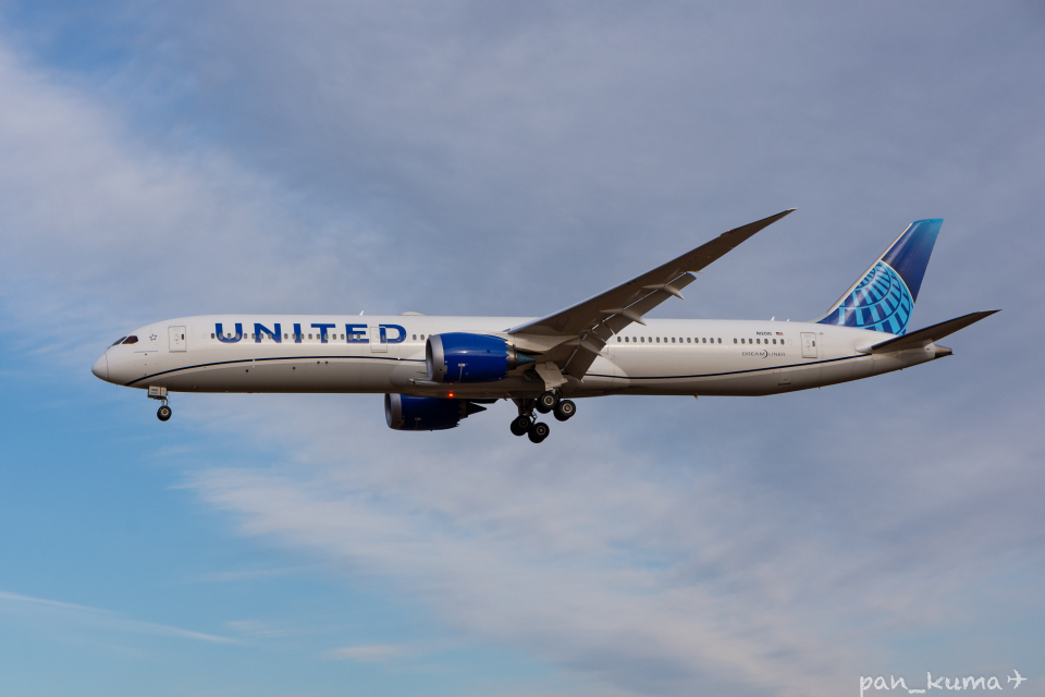 pan_kumaさんのユナイテッド航空 Boeing 787-10 (N12010) 航空フォト