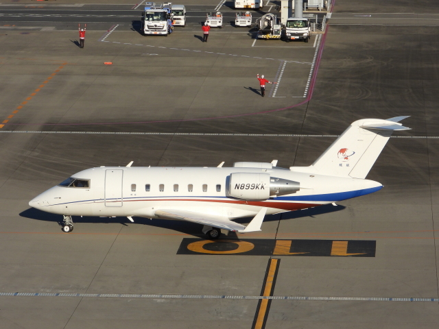 チャレンジャーさんが、羽田空港で撮影したボンバルディア CL-600-2B16 Challenger 605の航空フォト(飛行機 写真・画像)