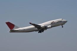 もぐ3さんが、成田国際空港で撮影した日本航空 747-446(BCF)の航空フォト(飛行機 写真・画像)