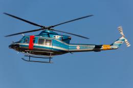 (新)ふぁんとむ改さんが、名古屋飛行場で撮影した大阪府警察 412EPの航空フォト(飛行機 写真・画像)