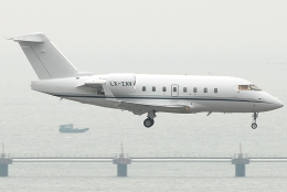 jun☆さんが、香港国際空港で撮影したグローバル・ジェット・ルクセンブルク CL-600-2B16 Challenger 604の航空フォト(飛行機 写真・画像)