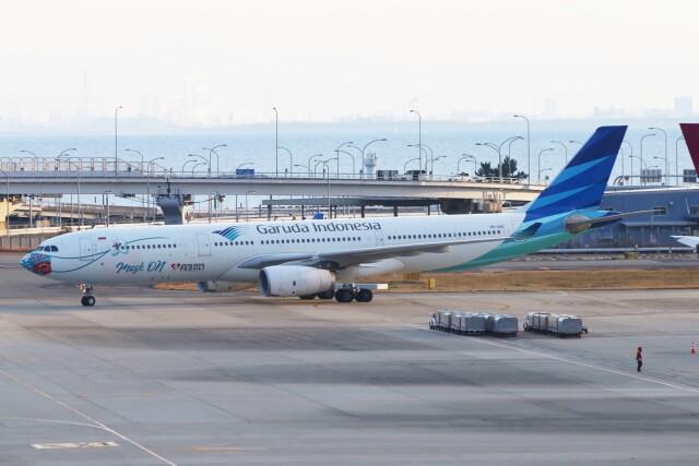 青春の1ページさんが、関西国際空港で撮影したガルーダ・インドネシア航空 A330-343Xの航空フォト(飛行機 写真・画像)