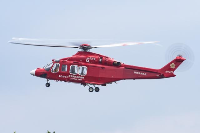 KANTO61さんが、ホンダエアポートで撮影した埼玉県防災航空隊 AW139の航空フォト(飛行機 写真・画像)