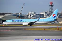 れんしさんが、福岡空港で撮影した大韓航空 737-9B5/ER の航空フォト(飛行機 写真・画像)