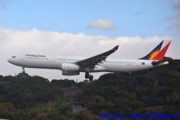 れんしさんが、福岡空港で撮影したフィリピン航空 A330-343Xの航空フォト(飛行機 写真・画像)