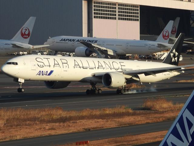 チャレンジャーさんが、羽田空港で撮影した全日空 777-381/ERの航空フォト(飛行機 写真・画像)