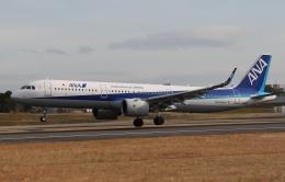 新城 JAL alpha rainbowさんが、伊丹空港で撮影した全日空 A321-272Nの航空フォト(飛行機 写真・画像)