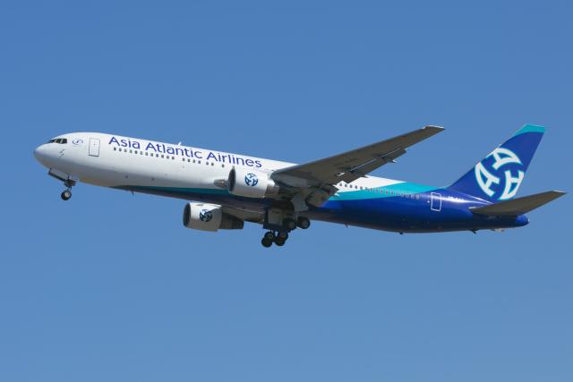 mameshibaさんが、成田国際空港で撮影したアジア・アトランティック・エアラインズ 767-322/ERの航空フォト(飛行機 写真・画像)