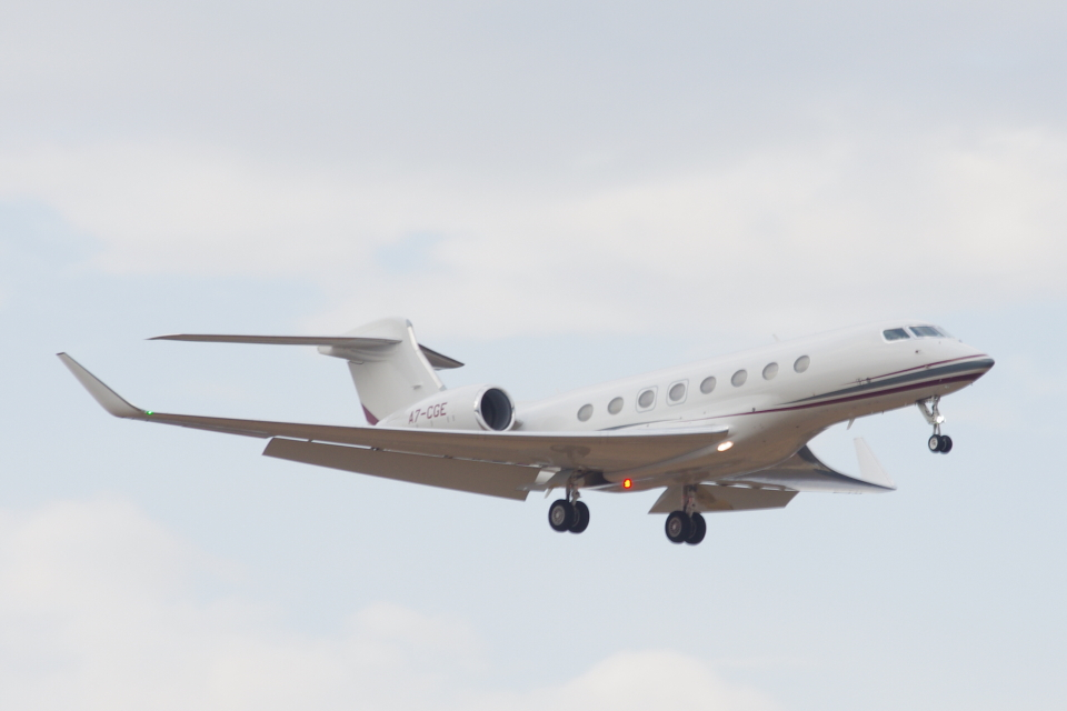 ladyinredさんのQutar Executive Gulfstream G650ER (G-VI) (A7-CGE) 航空フォト