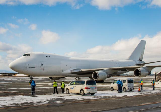 Cygnus00さんが、新千歳空港で撮影したアトラス航空 747-4KZF/SCDの航空フォト(飛行機 写真・画像)