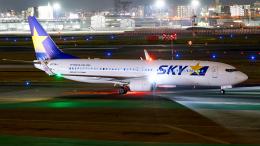 FlyingMonkeyさんが、福岡空港で撮影したスカイマーク 737-8ALの航空フォト(飛行機 写真・画像)