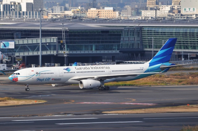 Flying A340さんが、羽田空港で撮影したガルーダ・インドネシア航空 A330-343Xの航空フォト(飛行機 写真・画像)