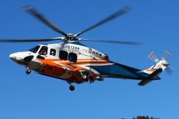ブルーさんさんが、静岡ヘリポートで撮影した静岡県消防防災航空隊 AW139の航空フォト(飛行機 写真・画像)