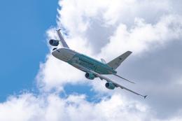 gomaさんが、ル・ブールジェ空港で撮影したハイ・フライ・マルタ A380-841の航空フォト(飛行機 写真・画像)
