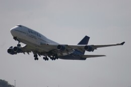 Mr.boneさんが、嘉手納飛行場で撮影したユナイテッド航空 747-422の航空フォト(飛行機 写真・画像)