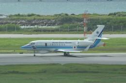 Flying A340さんが、那覇空港で撮影した海上保安庁 Falcon 2000EXの航空フォト(飛行機 写真・画像)
