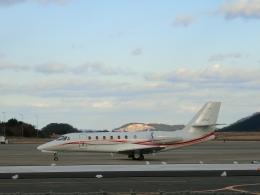 LEVEL789さんが、岡山空港で撮影した朝日航洋 680 Citation Sovereignの航空フォト(飛行機 写真・画像)