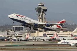 G-BNLYさんが、ロサンゼルス国際空港で撮影したブリティッシュ・エアウェイズ 747-436の航空フォト(飛行機 写真・画像)