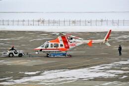 hidetsuguさんが、札幌飛行場で撮影した朝日航洋 430の航空フォト(飛行機 写真・画像)