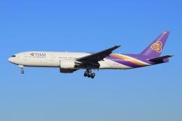 Vrijstaatさんが、成田国際空港で撮影したタイ国際航空 777-2D7/ERの航空フォト(飛行機 写真・画像)