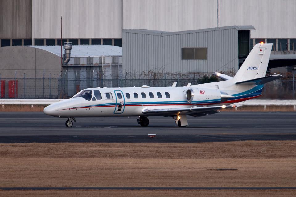 simokさんの朝日新聞社 Cessna 560 Citation V/Ultra/Encore (JA002A) 航空フォト