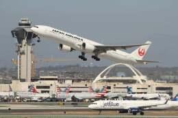G-BNLYさんが、ロサンゼルス国際空港で撮影した日本航空 777-346/ERの航空フォト(飛行機 写真・画像)