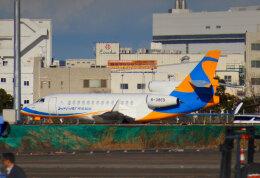 KAZKAZさんが、羽田空港で撮影した金鹿航空 Falcon 7Xの航空フォト(飛行機 写真・画像)